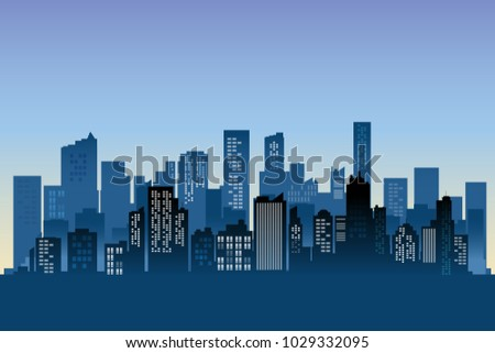 stock-vector-urban-cityscape-background-modern-buildings-architecture-at-morning-sunlight
