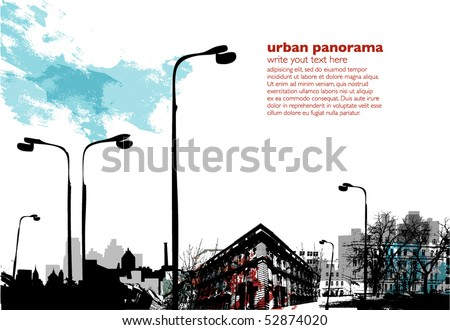 Urban collage with grungy effects