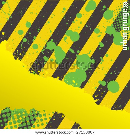 Urban Decay Grunge - stock vector