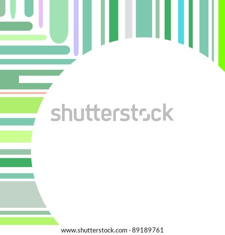 Urban designed background with stylized abstraction. Vector