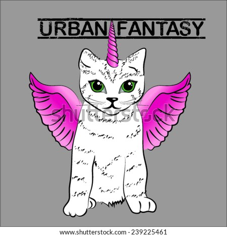 urban fantasy cute unicorn cat