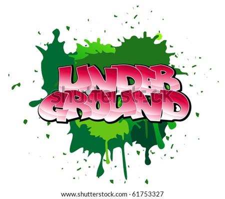 Urban graffiti design of underground on blobs background. Jpeg version also available in gallery