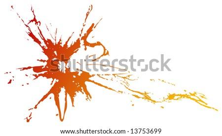 urban grunge design elements: red splash!
