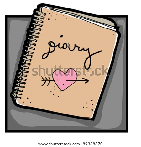 urban hipster diary, smart colored doodle isolated on white - stock vector