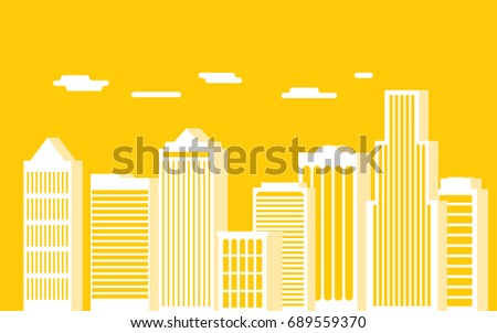 urban landscape and city life