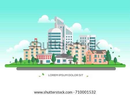 urban landscape   modern vector