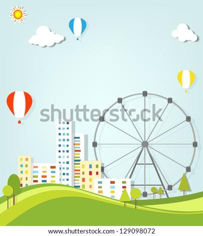 urban landscape vector applique