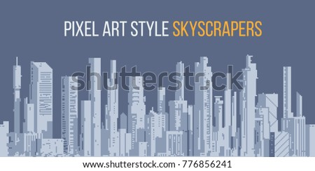 urban landscape with high