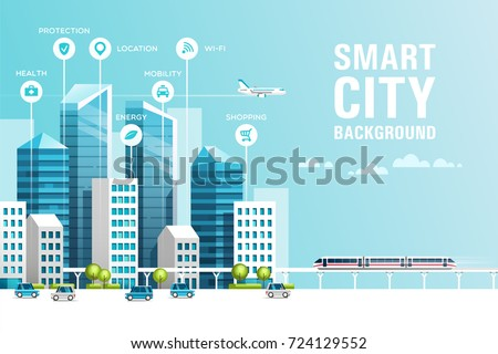urban landscape with