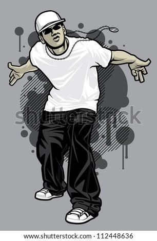 urban male tshirt model vector