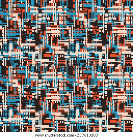 Stock Photo Urban motif geometric background. Seamless pattern. Vector.