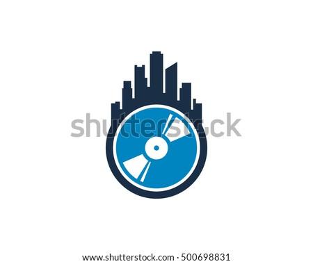 urban music dj logo design
