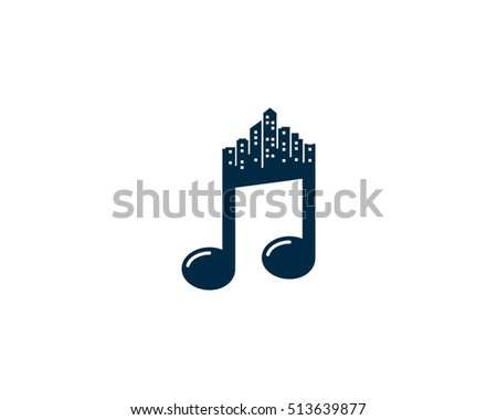Urban Music Logo Design Template Element