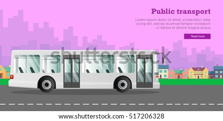 urban public transport white