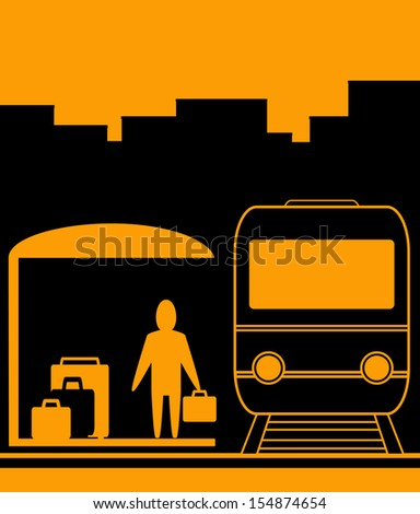 urban railroad background with