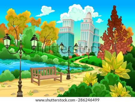 urban scenery in a natural