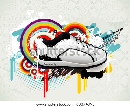 urban shoe culture vector - stock vector