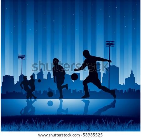 urban soccer background