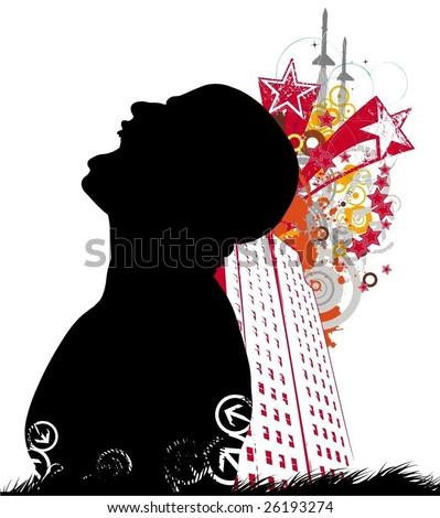 urban style vector illustration - stock vector