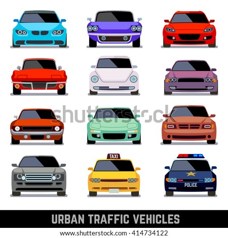 urban traffic vehicles  car