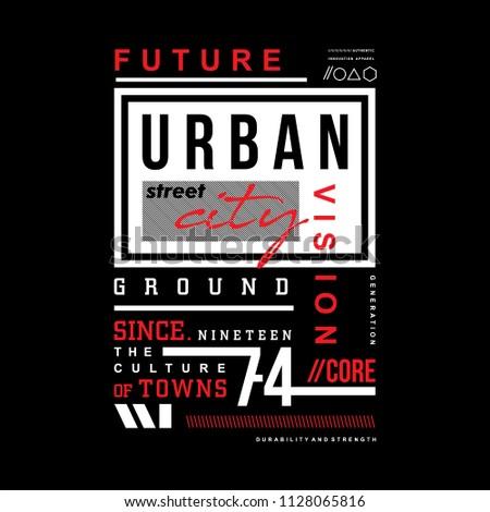 urban typography t shirt design, vector illustration cool image