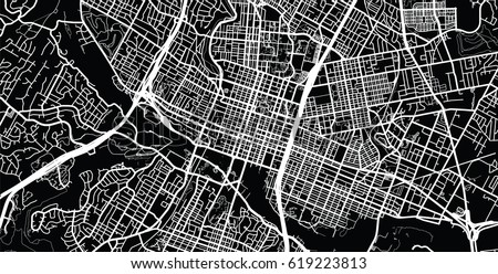 Urban vector city map of Austin, USA