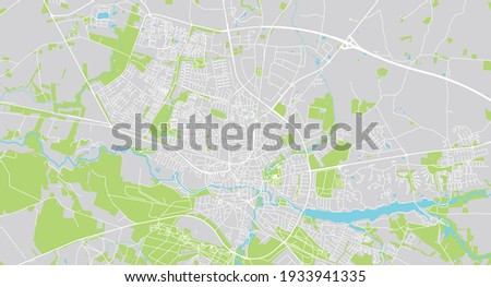 Urban vector city map of Holstebro, Denmark Сток-фото ©