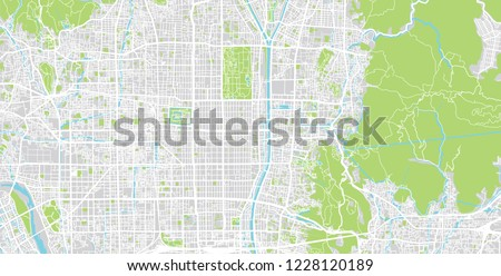 Kyoto Subway Map Vector.Shutterstock Puzzlepix