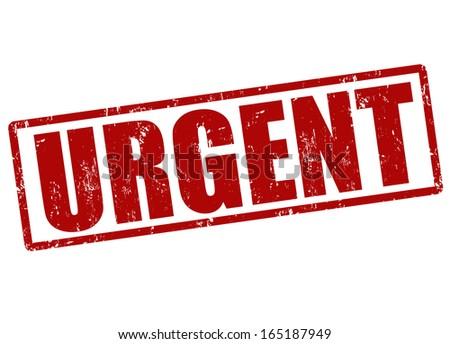 Urgent red grunge office stamp on white, vector illustration Stockfoto ©