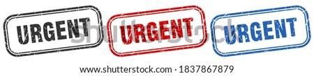 urgent square isolated sign set. urgent stamp Stockfoto ©
