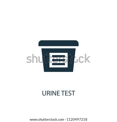urine test creative icon. Simple element illustration. urine test concept symbol design from medical collection. Can be used for web and mobile.