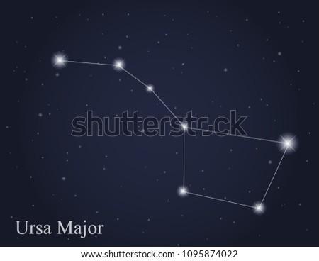 ursa major constellation on the