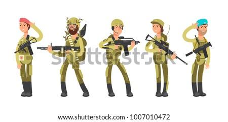 us army cartoon man and woman