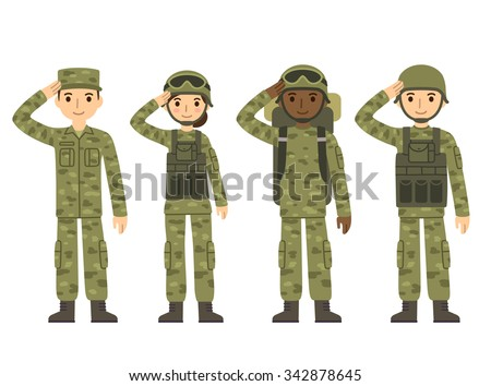 us army soldiers  men and woman