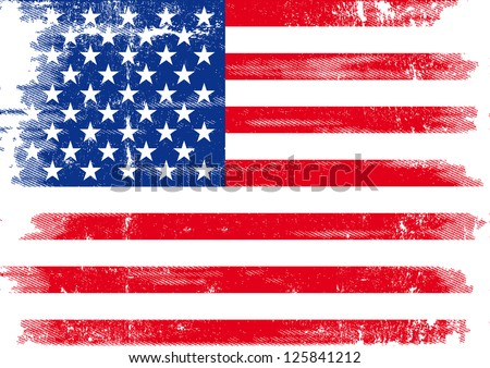 US dirty flag. An american grunge flag for you. #125841212