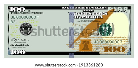 US Dollars 100 banknote100 -American dollar bill cash money isolated on white background.