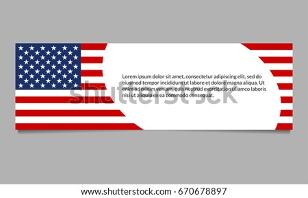 49c59d91f95 US flag banner or header template. American flag background with space for  text. Vector · American Flag colors website ...