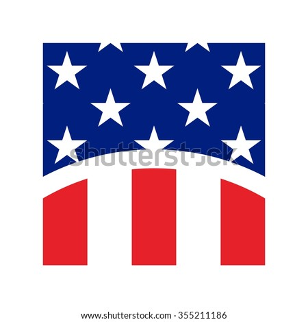 us flag symbol logo vector