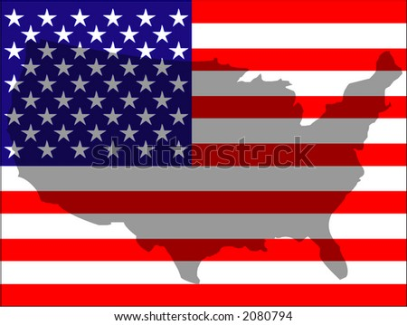 US flag - vector illustration