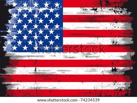 Us Grunge flag A used patriotic US Flag
