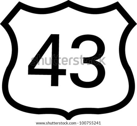 us 43 highway sign