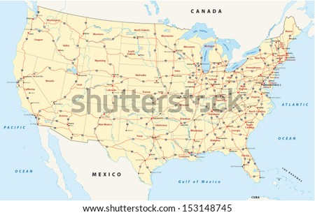 us interstate highway map #153148745