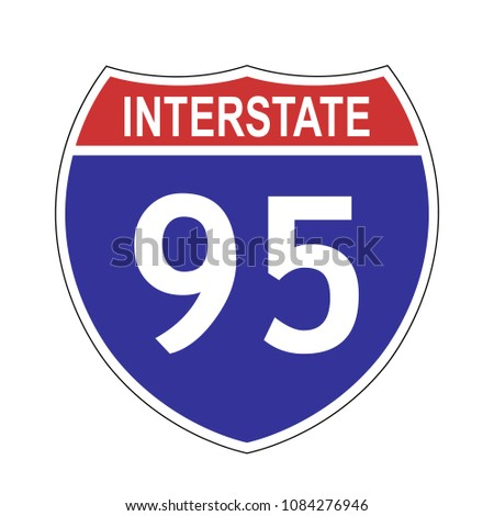 us interstate 95 highway sign...