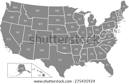 us map outlines with states