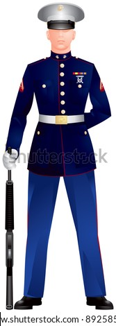 us marine corp blue dress