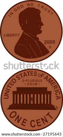 us penny illustration