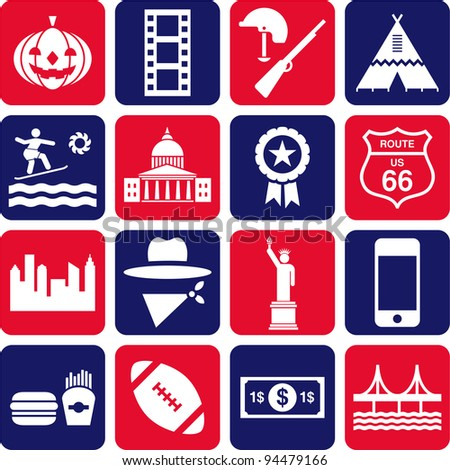 US pictograms - stock vector