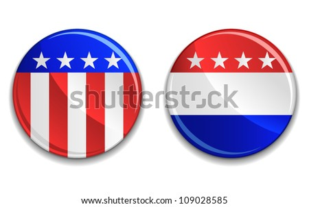 US presidential election badges. - stock vector
