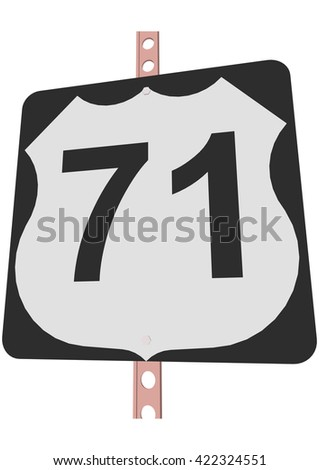 us 71 route sign