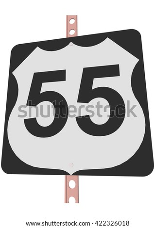 US 55 Route sign